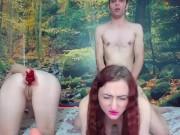 Sex in trei cu doua zdrente futute pe rand pe webcam