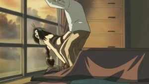Bruneta hentai pusa capra langa geam si fututa puternic